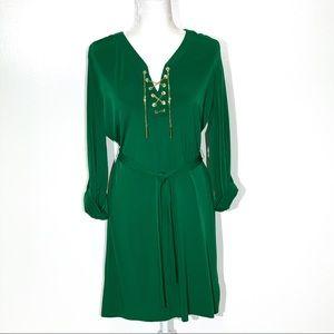MICHAEL MICHAEL KORS Green Chain Dress Size- M